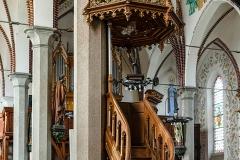 Dywity-kościół neogotycki z 1893 roku, ambona