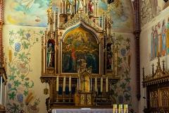 Dywity-kościół neogotycki z 1893 roku, ołtarz