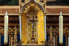 Dywity-kościół neogotycki z 1893 roku, wnętrze