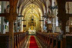 Dywity-kościół neogotycki z XIX wieku, wnętrze