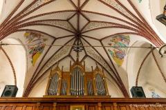Dywity-kościół  z 1893 roku. organy i sklepienie