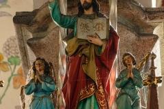 Dywity-kościół z 1893 roku, ambona, rzeźba