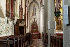 Dywity-kościół z 1893 roku, nawa lewa